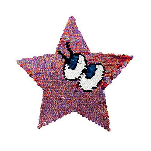 Reversible Lentejuelas Ropa Parche Estrella