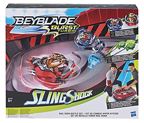 Beyblade-Estadio Turbo Rail, edad...