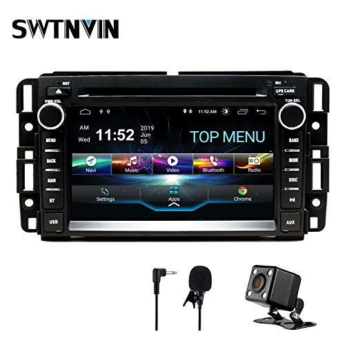 SWTNVIN Car Stereo Android 10.0 DVD Player for GMC Sierra Yukon Chevrolet Buick Chevy Silverado Double Din 2G RAM 32G ROM 7 inch Multimedia Radio Navi support WiFi BT Steering wheel Free Backup Camera