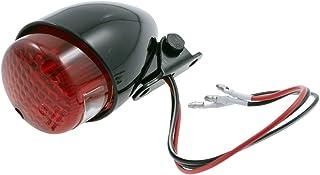 Mini Rücklicht Bremslicht schwarz E geprüft für Chopper Custom Motorrad