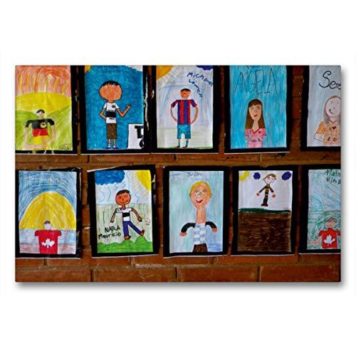 CALVENDO Premium Textil-Leinwand 90 x 60 cm Quer-Format Kinderbilder Das Bin ich, Leinwanddruck von Anne Kristin Gräfin von Montfort
