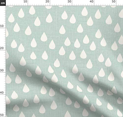 Stoff Jersey Kinderstoff Baumwolle Regentropfen Tropfen Regen