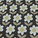 Softshell Blumen, wasser- und windabweisend, grau (25cm x