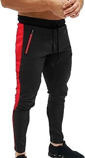 comprar comparacion Pantalones para Hombre,Chándal de Hombres Deportivos Running Pants Jogging Pantalon Patchwork Fitness Gym Slim Fit Pantalo...