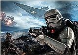 QIXINGFU Rompecabezas Puzzle 1000 Piezas - Storm Trooper Star Wars Battlefront- Puzzle Educa Inteligencia Jigsaw Puzzles Marco Puzzles De Suelo para Niños Adultos(75×50 Cm