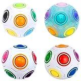 Easehome Magic Rainbow Ball 4 Pack Rainbow Speed Puzzle Cube Magico Cubo Educación Juguetes para Niños