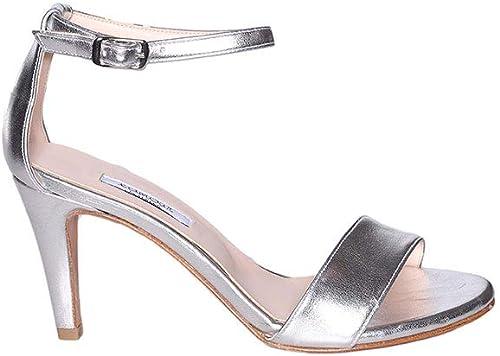 Sandalo Lamour in Pelle Metallizzata Con Laccio Alla Caviglia e Tacco 8cm