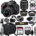 Nikon D5600 DSLR Camera with 18-55mm VR Lens + 128GB Card, Tripod, Flash, ALS Variety Lens Cloth, and More by Al's Variety-Nikon int