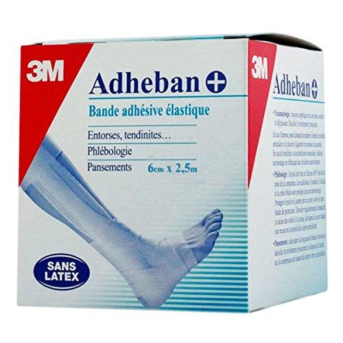3M-Bande Adhésive Elastique Adheban+ 3M, 6cm X 2,5m