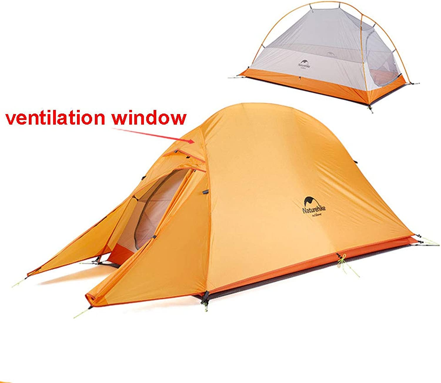 Cloud up Series Tent Updated Version, Waterproof Backpacking Tent Double Layer Ultralight Camping Tent for 1-3 Person