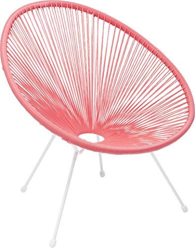 Kare Design Sessel Acapulco Pink, moderner Acapulco Sessel, Gartenstuhl, Outdoorstuhl, Relaxsessel, Stuhl, Wetterfest, XXL Retro Chillsessel...