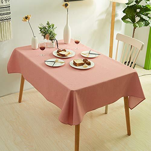 DJUX Tischdecke, Tischdecke, 60 x 60 cm, 140 x 300 cm, Polyester, Orange / Weiß