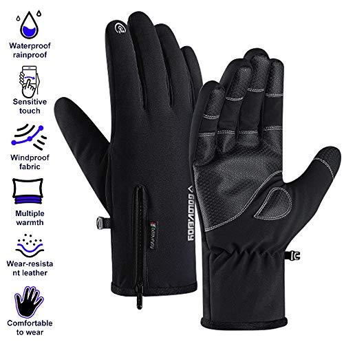 EXTSUD Touchscreen Winter Handschuhe wasserdichte Sports Handschuhe Warme Fahrradhandschuhe mit Touchscreen Funktion für Smartphones Geeignet für Outdoor Radfahren Jagd Sports (M)