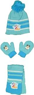 Juego de gorro con pompón + manoplas + bufanda para bebé – Mickey