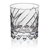CRISTALICA Whiskyglas Drehbecher German Roulette Frankfurt Transparent aus Bleikristall 225 ml
