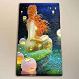 YuFeng Art Inn Modern Wall Poster Art Print Oil Painting on Canvas Home Decor Wall Decoration Canvas Art HD Print Victor Nizovtsev Mermaid In Strange Seas Oil Painting on Canvas Modern Home Decor (Unframed-No Framed,12x18inch)