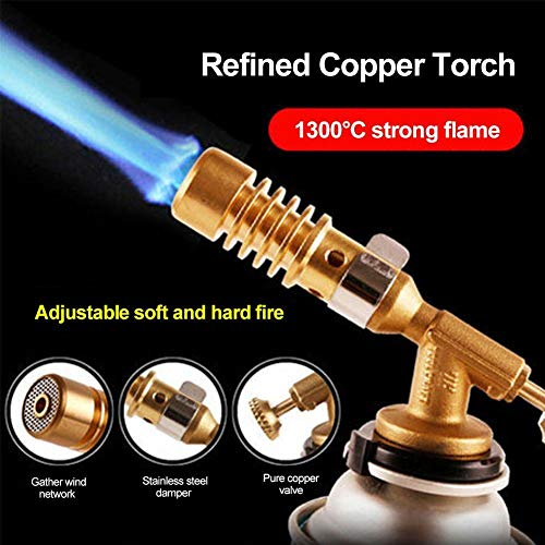 YOUNICER Portable Flame Gun Blow Torch Burner Flame Gun Gas Torch Fire Maker Lighter Outdoor BBQ Camping Cooking Torch Welding