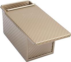 DOITOOL 1PCS Aluminium Loaf Pan for Baking Bread,Non-Stick Bread Pan with Lid for Baking Bread Supplies (Golden,21.5x12.4x...