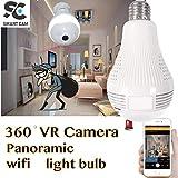 SmartCam 2MP 960/1080p Bulb Shape Fisheye 360° Panoramic Wireless WiFi IP CCTV Security