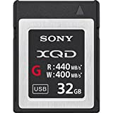 Sony QDG32E-R 32GB XQD Memoria Flash - Tarjeta de Memoria (32 GB, XQD, 440 MB/s, Negro)