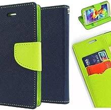 JMD Fancy Diary Wallet Flip Cover Case For Motorola Moto E4 Plus / Moto E Plus (4th Gen) (Blue Green)