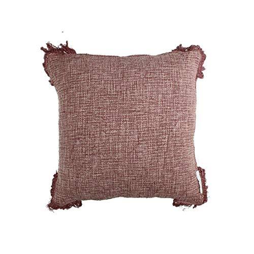 Engelnburg hoogwaardig sierkussen sofakussen kussen katoen aubergine 45x45cm