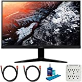 Acer UM.HX1AA.009 KG271 bmiix 27 inch 16:9 LCD Gaming Monitor Bundle with 2X 6FT Universal 4K HDMI 2.0 Cable, Universal Screen Cleaner and 6-Outlet Surge Adapter