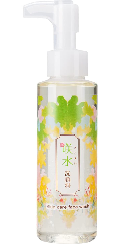 科学旋回ただやる咲水 スキンケア 洗顔料 120mlA サクラン スイゼンジノリ アミノ酸系洗浄剤 (リバテープ製薬 公式) 日本製