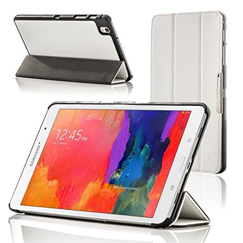 Forefront Cases Cover per Samsung Galaxy Tab PRO 8.4 T320 Custodia Caso Case Cover Pieghevole - Sottile Leggero, Protezione Completa e Smart Auto Sveglia Sonno Funzione - Bianco