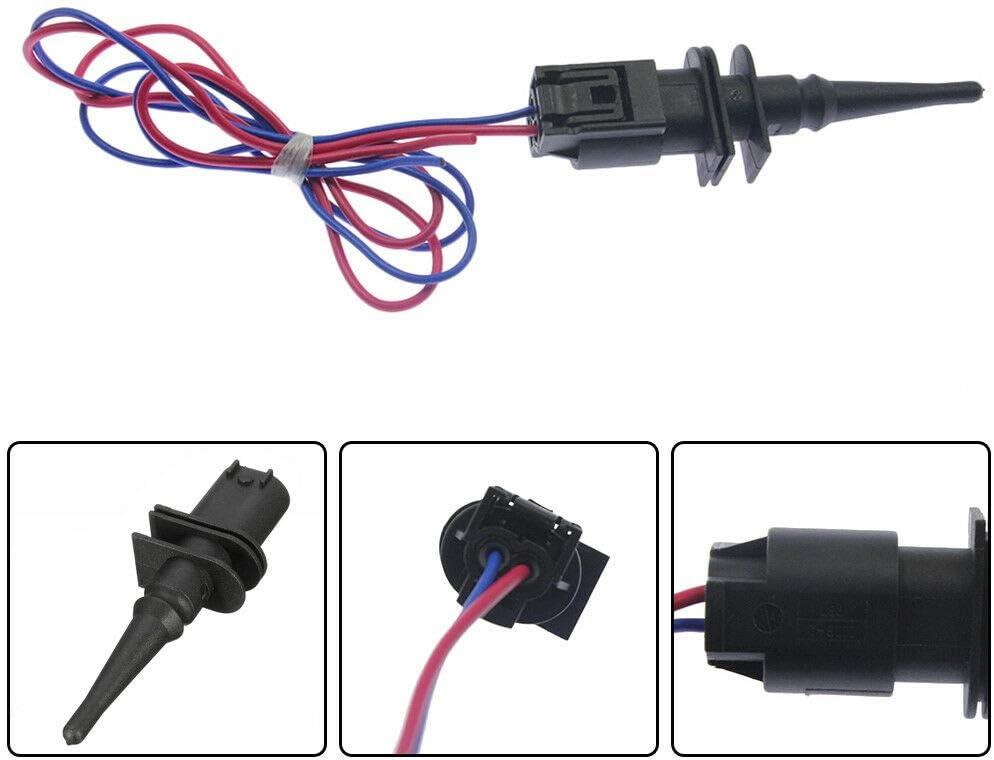 Ambient Air Temperature Sensor w Contor Fits E39 E46 E38 E Wires 25% Quality inspection OFF