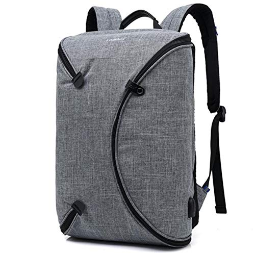 Laptop Backpack 15 Inch Travel Business Computer Rucksack with USB Charging - College School Daypack Work Bag for Men/Women-Gray