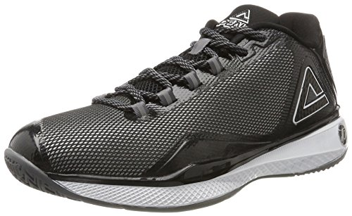 Peak Sport Europe Basketballshoe Tony Parker TP IV, Zapatillas de Baloncesto Unisex Adulto, Negro (Black White 27014), 45 EU