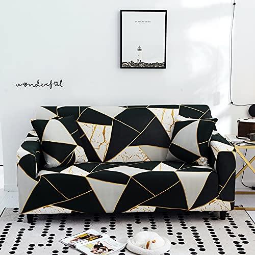 WXQY Funda de sofá geométrica de celosía elástica Funda de sofá con Todo Incluido Esquina en Forma de L Funda de sofá Antideslizante combinación A3 1 plazas