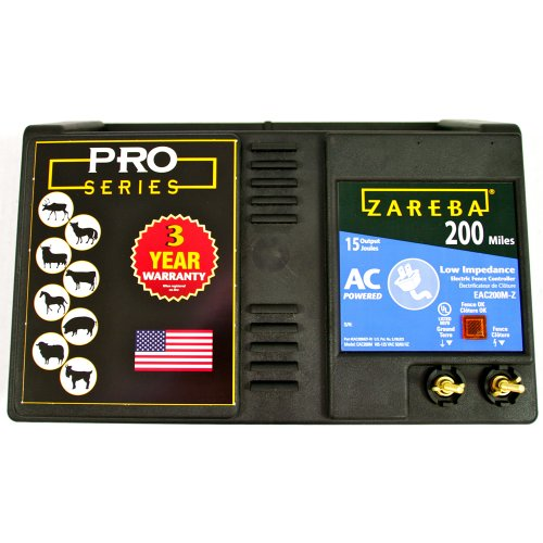 Zareba EAC200M-Z 200-Mile AC-Powered Low-Impedance Electric...
