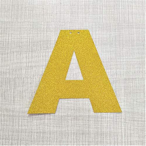 Home Wang Guirnalda Banderines Alfabeto Personalizado Oro Brillo Carta Papel Bandera DIY Nombre Colgando Banderas del Partido Guirnalda Decoración Cumpleaños Vivero-A_8_Inches