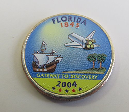 2004 Various Mint Marks Florida State Colorized Quarter Choice Uncirculated