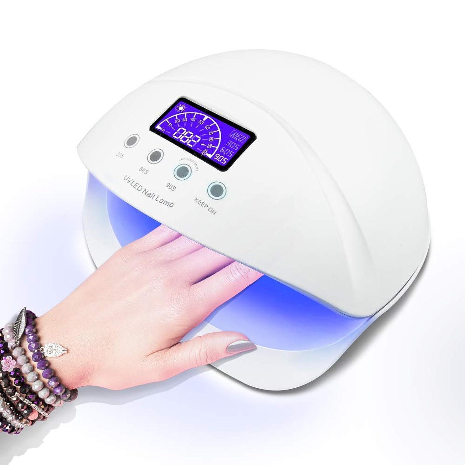 急流ベース更新LED ネイルドライヤー UVネイルライト 50W