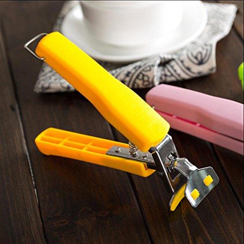 WYFC Cuisine créative gadgets multi-usages Chuck enlever bol inox anti-dérapants bol pince plaque anti-hot clips (couleurs aléatoires)