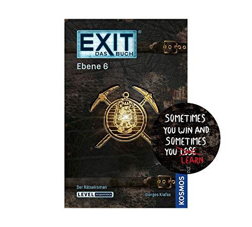 Exit Das Buch - Set: Ebene 6 (Taschenbuch) + 1x Exit-Sticker