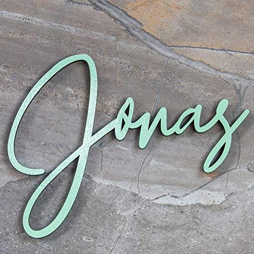 Personalisierter Namensschriftzug, Personalisiertes Kinderzimmer Namensschild, Türschild personalisiert, Personalisierter Lieblingsspruch, Personalisierte Wunschtexte, Breite 20cm - 80cm