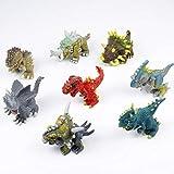 MOOKLIN ROAM Dinosaurios de Juguete, 8pcs Figura de Dinosaurio Realistas Mini Dinosaurio para la decoración de la Fiesta de cumpleaños de los niños niñas,Dinosaurio de Construcción de Juguete