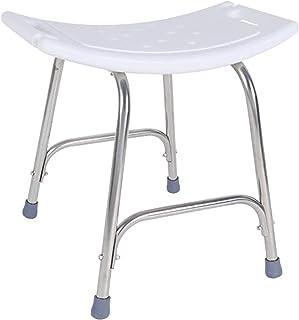 TUHFG Shower Stool Bath Seats Shower Stool Stainless Steel Bathroom Shower Stool, Non-Slip Shower Chair Capacity: 200kg Ba...