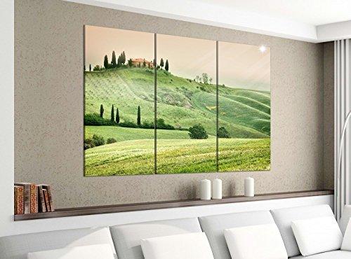 Acrylglasbilder 3 Teilig 120x100cm Landschaft Toskana Italien Haus Druck Acrylbild Acrylglas Acrylbilder Wand Bild 14E1286, Acrylgröße 8:gesamt 120x100cm