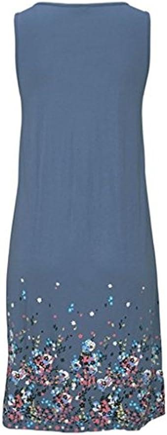 Sommerkleid Damen Kleider Sommer Kleid Knielang Tragerkleid Strandkleider Sommerkleider Amazon De Bekleidung
