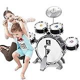 Lwieui Batería para Niños Niños Drum Set Niños Junior Drums Kit Simulación Jazz Drums Percusión Instrumento Musical Sabiduría Desarrollo Juguetes Convertir Tambor para Niños Pequeños