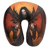 World Warcraft - Almohada de cuello de espuma viscoelástica, cojín de cuello de viaje compacto y ligero