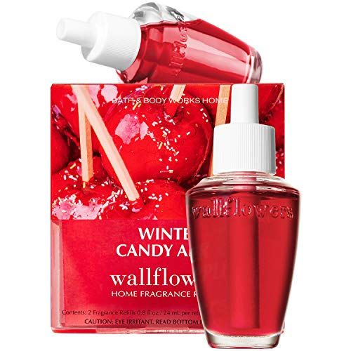 Bath and Body Works WINTER CANDY APPLE Wallflowers 2-Pack Refills, 2019 Edition