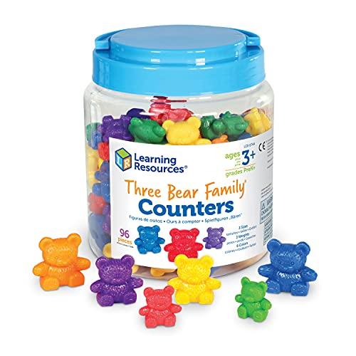 Learning Resources - Set de Ositos de Distintos tamaños y Pesos (69 Unidades), Colores Variados