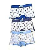 EMY Calzoncillos bóxer para niños, 95% algodón, diseño mixto, para niños de 2 a 12 años, paquete de 6 unidades Balón 9-10 años
