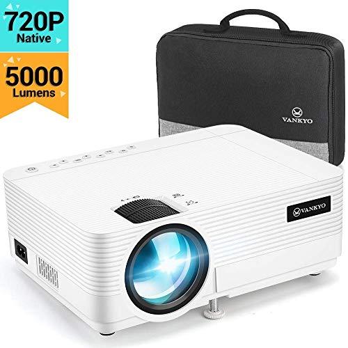 Vidéoprojecteur, Vankyo Rétroprojecteur 5000 Lumens Mini Projecteur Vidéo Soutien 1080P Full HD...